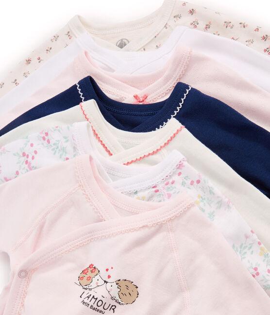 Verrassingszakje van 7 rompers met lange mouwen voor pasgeborenen baby meisje set .