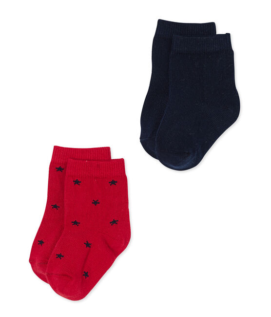 Set sokken voor babyjongens: effen + sterren set .