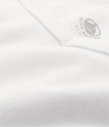 Iconisch T-shirt met lange mouwen mannen wit Ecume