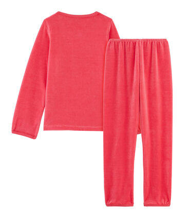 Meisjespyjama van fluweel rood Signal