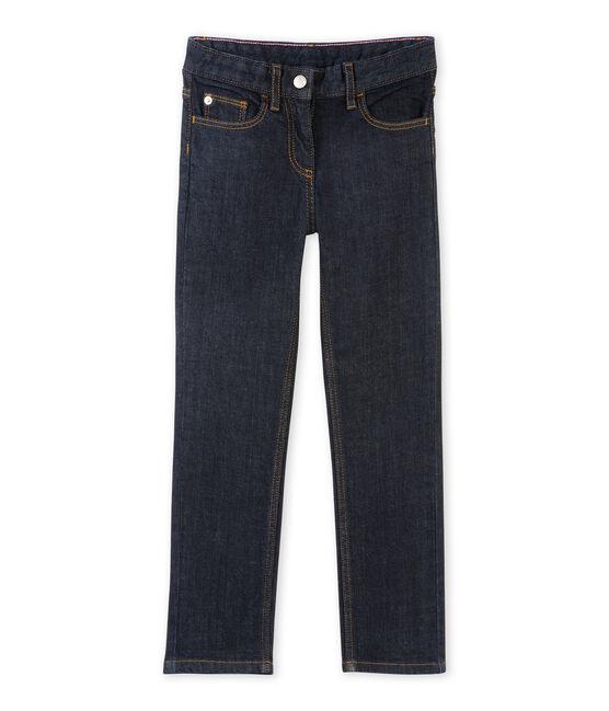 Raw denim meisjesjeans blauw Jean