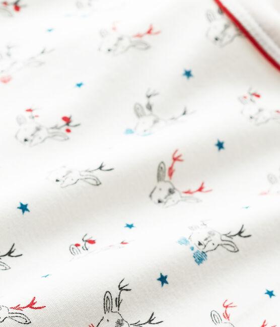 Jongens-T-shirt met lange mouwen en dessin wit Lait / wit Multico