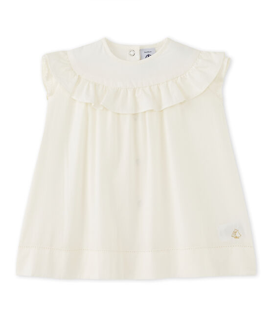 Robe de cérémonie bébé fille blanc Lait