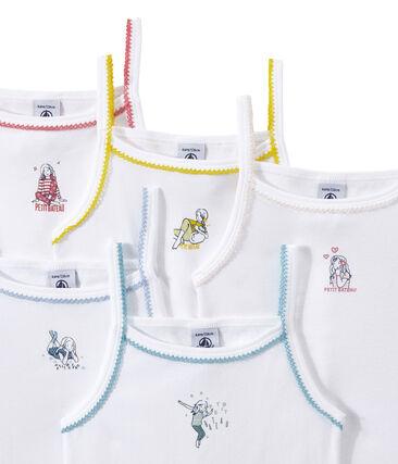Lot de 5 chemises à bretelles fille à motifs