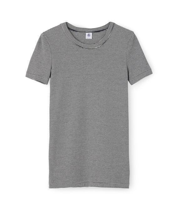 Iconisch T-shirt met korte mouwen vrouwen blauw Smoking / wit Marshmallow