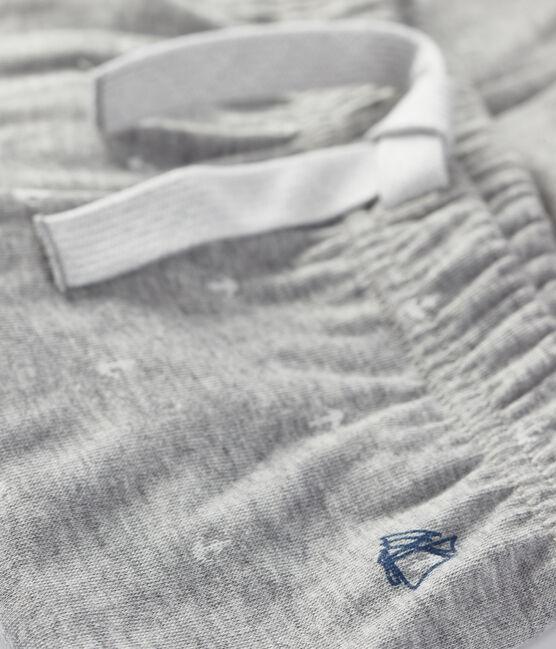 Gestreepte broek voor babyjongens grijs Subway / wit Marshmallow