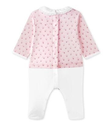 Hemdoverall uit twee stoffen voor babymeisjes