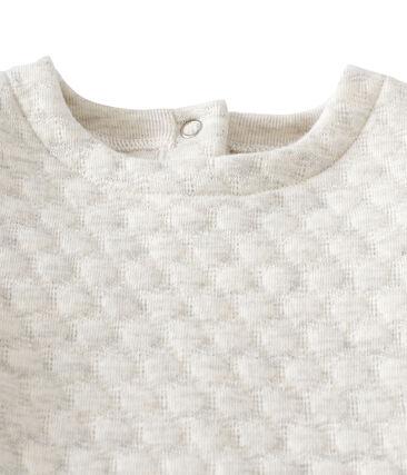 2-in-1 jurk in doorgestikte tubic voor babymeisjes grijs Montelimar Chine