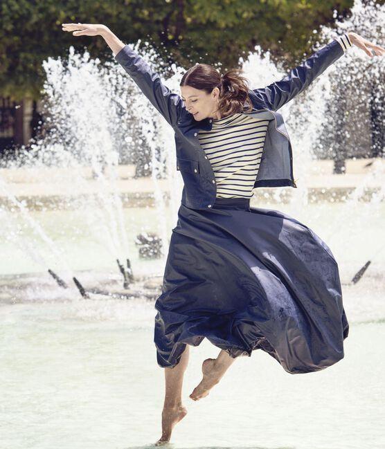 Lange rok voor dames. Petit bateau x Marie-Agnès Gillot blauw Smoking