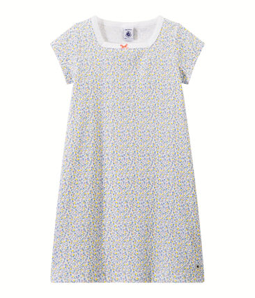 Meisjesnachthemd met dessin wit Ecume / wit Multico