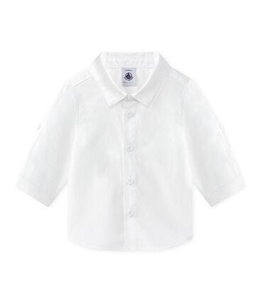 Chemise bébé garçon manches retroussables blanc Ecume