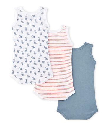 Set van 3 mouwloze body's voor babyjongens