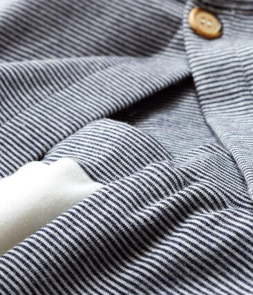 Set van drie items babyjongen van gebreide stof wit Marshmallow / blauw Smoking