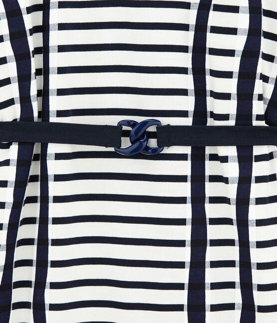 Kimonojurk wit Marshmallow / blauw Smoking