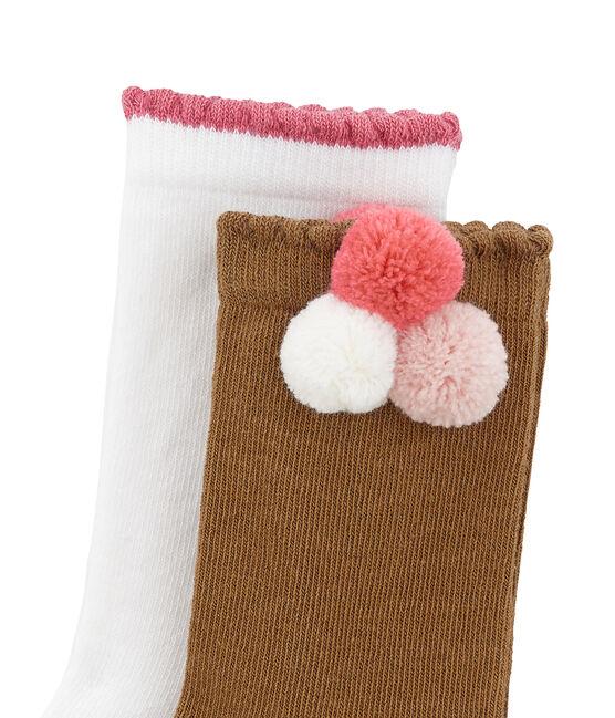Set van 2 paar sokken: met pompoen en effen set .