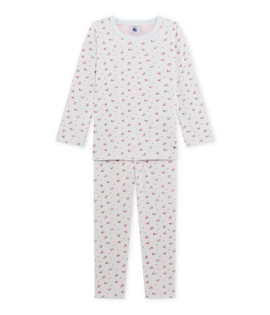 Pyjama fille imprimé petites fleurs blauw Bocal / wit Multico