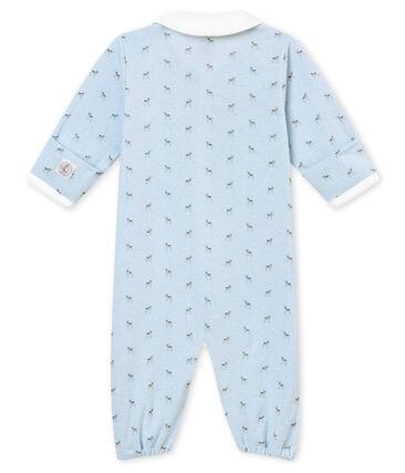 Combizak in tubic met dessin voor babyjongens blauw Fraicheur / wit Multico