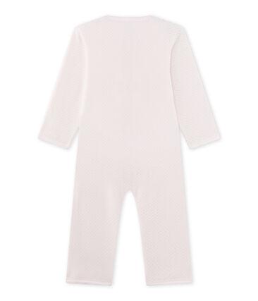 Warme meisjespyjama in fleece roze Vienne / grijs Mistigri