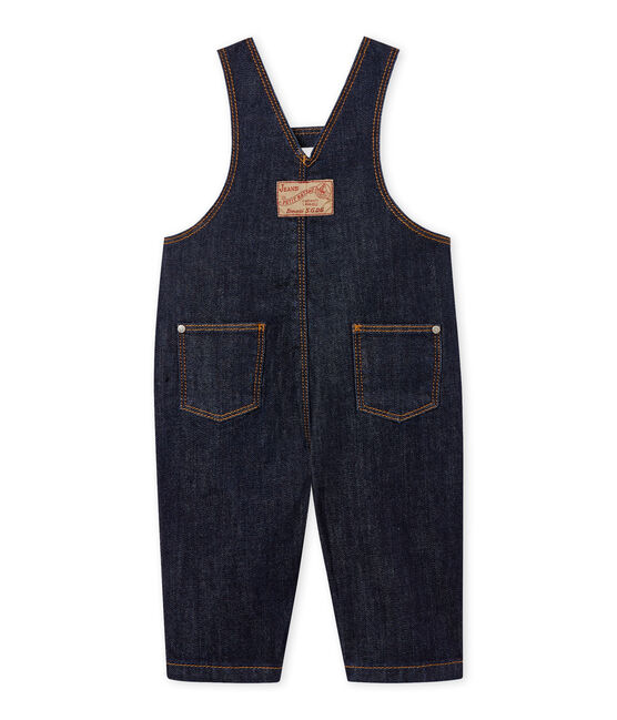 Lange salopette van spijkerstof voor baby's blauw Jean