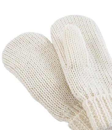 Moufle enfant fille blanc Marshmallow / jaune Or