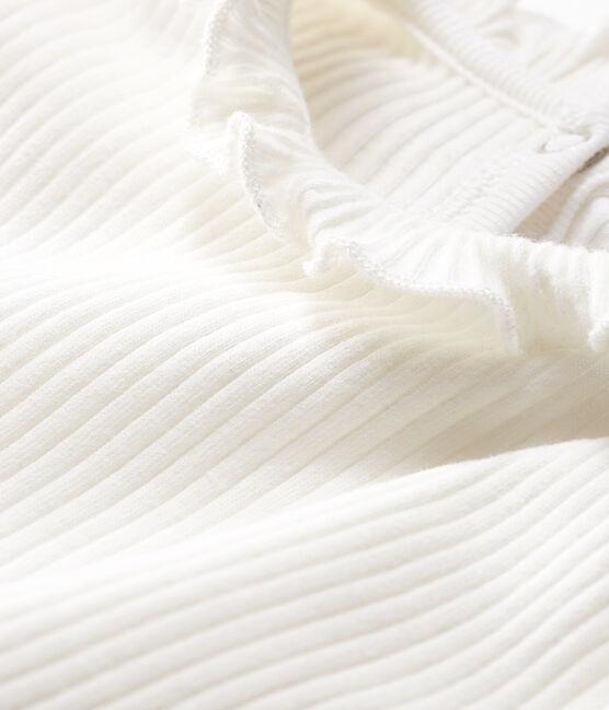 Effen blouse met lange mouwen babymeisje wit Marshmallow