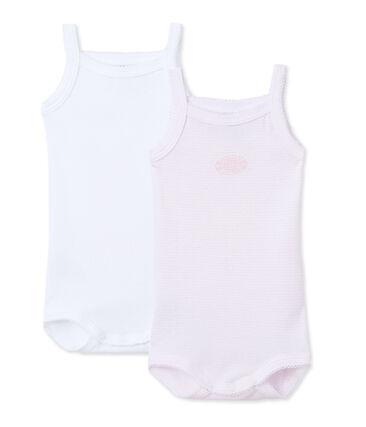 Set van 2 body's met schouderbandjes voor babymeisjes