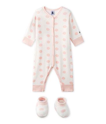 Babypyjama zonder voetjes in bouclébadstof