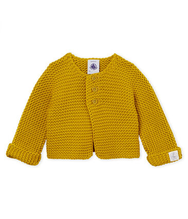 Uniseks vest in fijne ribbelsteek voor baby's