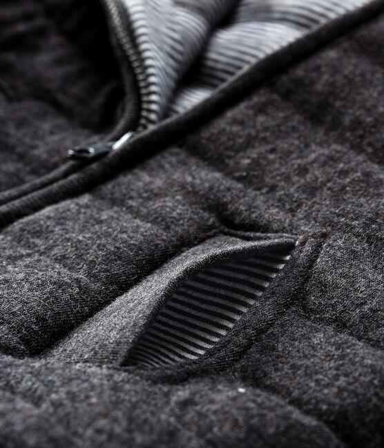 Veste zippée bébé garçon en tubique matelassé gris City Chine