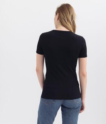 Iconisch dames-t-shirt met korte mouwen