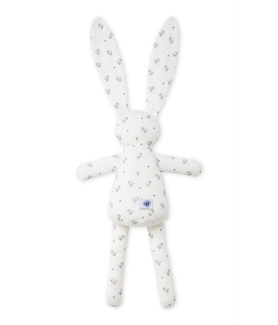 Doudou lapin bébé mixte imprimé wit Lait / wit Multico