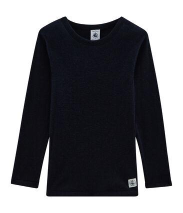 T-shirt met lange mouwen kinderen van katoen wol zijde