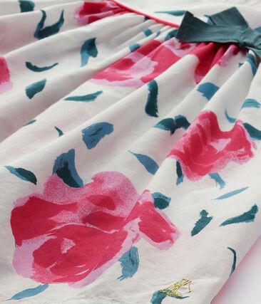 Robe bébé fille manches papillons imprimée