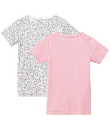 Lot de 2 t-shirts fille manches courtes