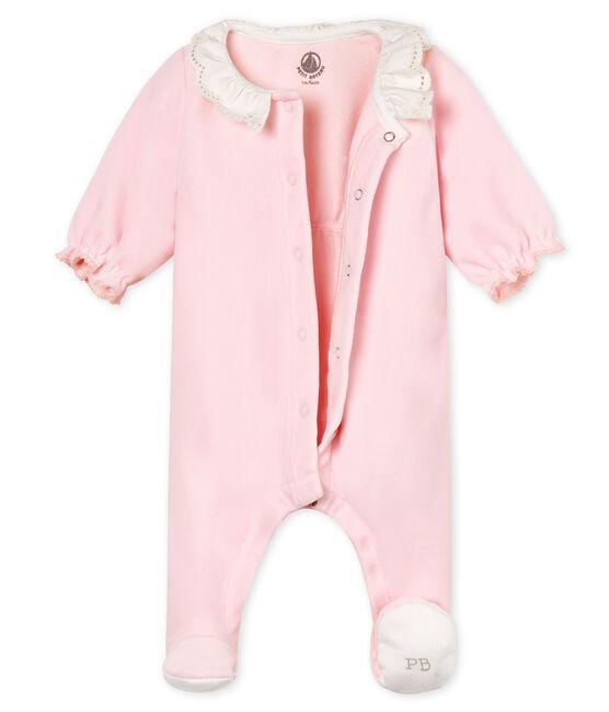 Dors-bien bébé fille en velours de coton VIENNE