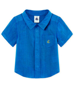 Overhemd met korte mouwen in linnen voor babyjongens