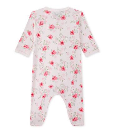 Dors bien bébé fille imprimé fleurs