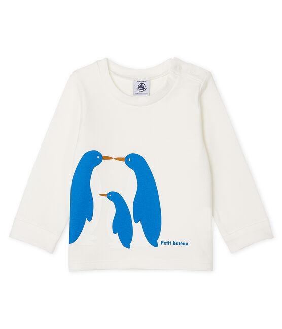 Tee shirt manches longues bébé garçon blanc Marshmallow