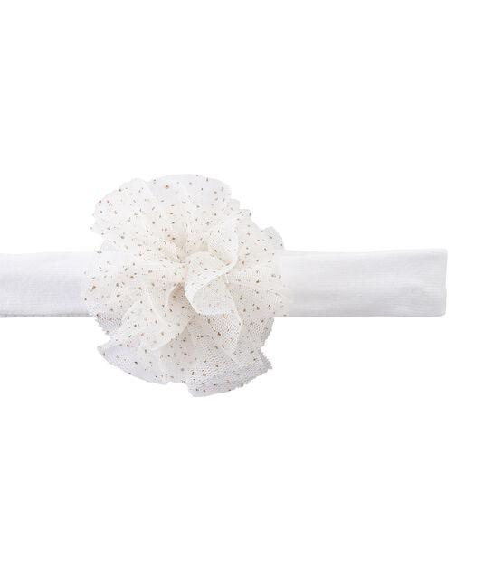 Bandeau cheveux fille à fleur blanc Marshmallow