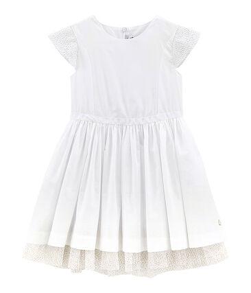 Robe enfant fille blanc Ecume