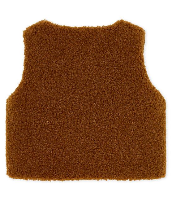 Mouwloos vest babyjongen bruin Cocoa