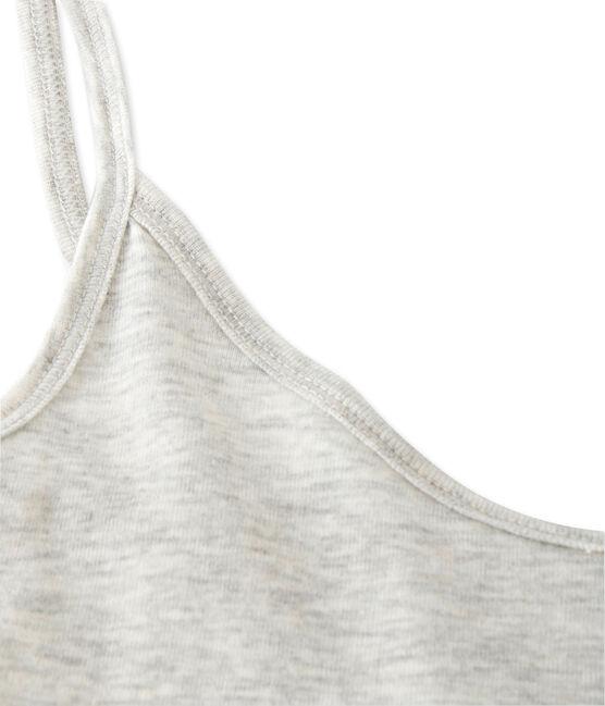 Chemise à bretelles femme en coton léger grijs Beluga Chine