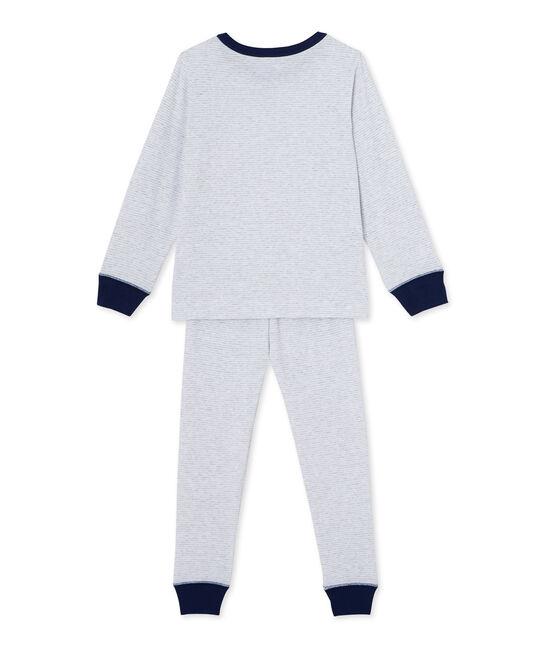 Pyjama garçon en milleraies grijs Poussiere / wit Lait