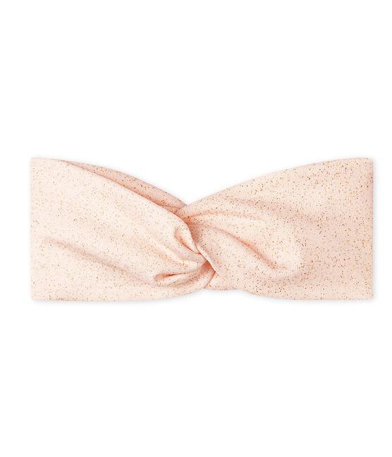 Haarband voor baby meisje roze Fleur / geel Or