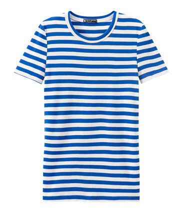 Gestreept dames-T-shirt in origineel geribd katoen